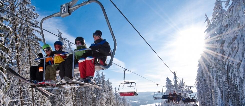 Ubytování a lyžování ve Skiareálu Lipno
